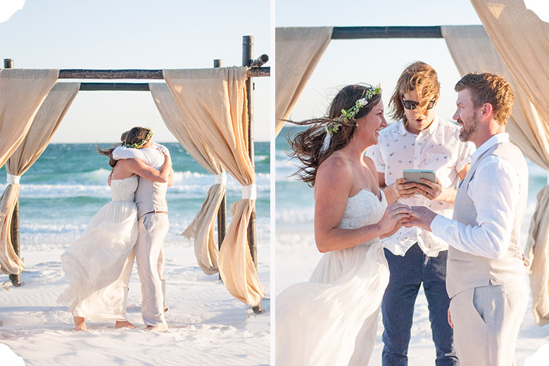 Erin + Jeff | Destin Beach Wedding | Tallahassee Wedding Photographer
