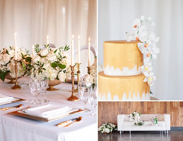 Modern Glam Wedding Inspiration   White and Gold Wedding Inspiration    The Gathering   Poppie Studios Tallahassee Wedding Photographer