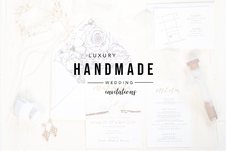Luxury Handmade Wedding Invitations | Tallahassee Wedding Invitations