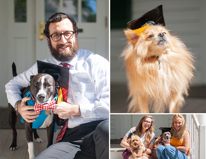 Pet Portraits and event photography for Juris Dogtorate Graduation. FSU College of Law Animal Defense League. Poppie Studios Tallahassee Photographer