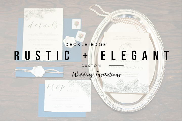 Deckle-Edge Rustic Wedding Invitations