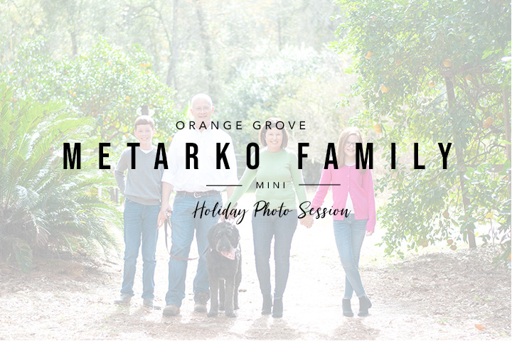 Family Portraits in an Orange Grove