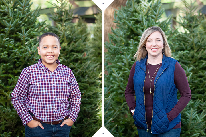 Christmas Tree Family Portraits