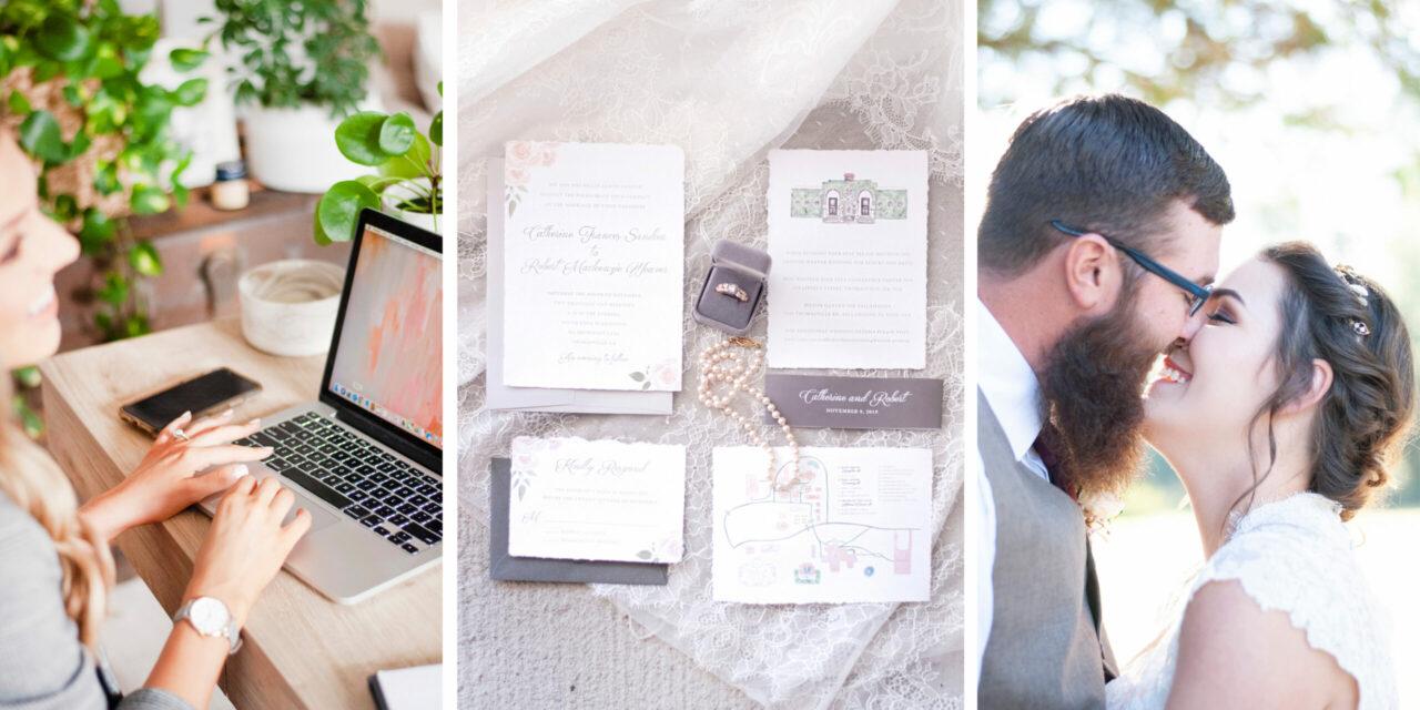 Personal Branding Tallahassee Florida Wedding Invitations Poppie Studios
