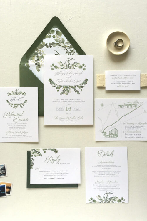 Earth Friendly Wedding Invitations | Tallahassee Invitation Designer