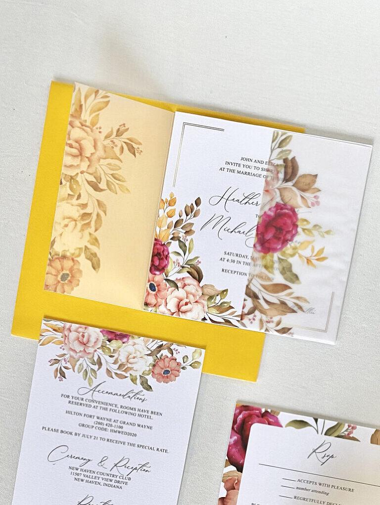 wedding invitations by Poppie Studios